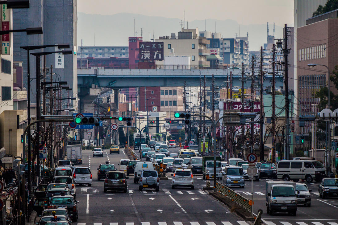 Traffic in Osaka by VillyVilly
