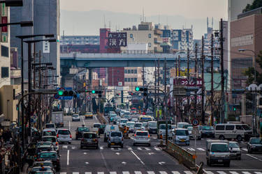 Traffic in Osaka by VillyVilly