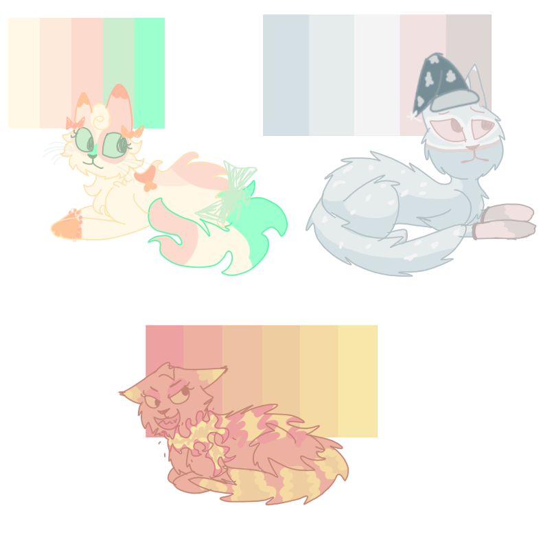New OCs based off of color schemes uwu by Jclay251