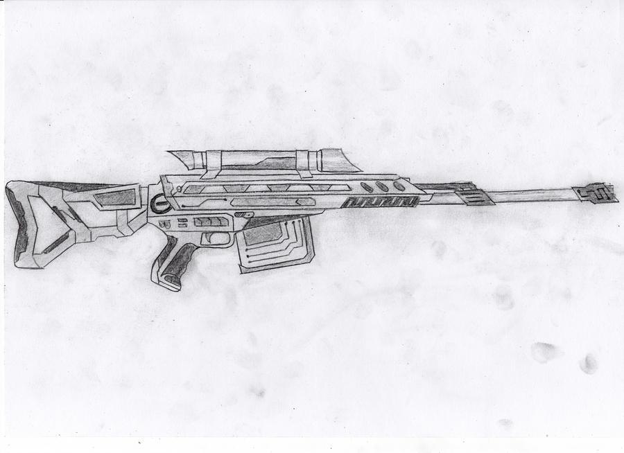 Рисунки винтовок карандашом