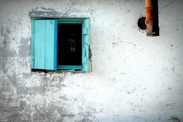Blue Window by graphicmusings