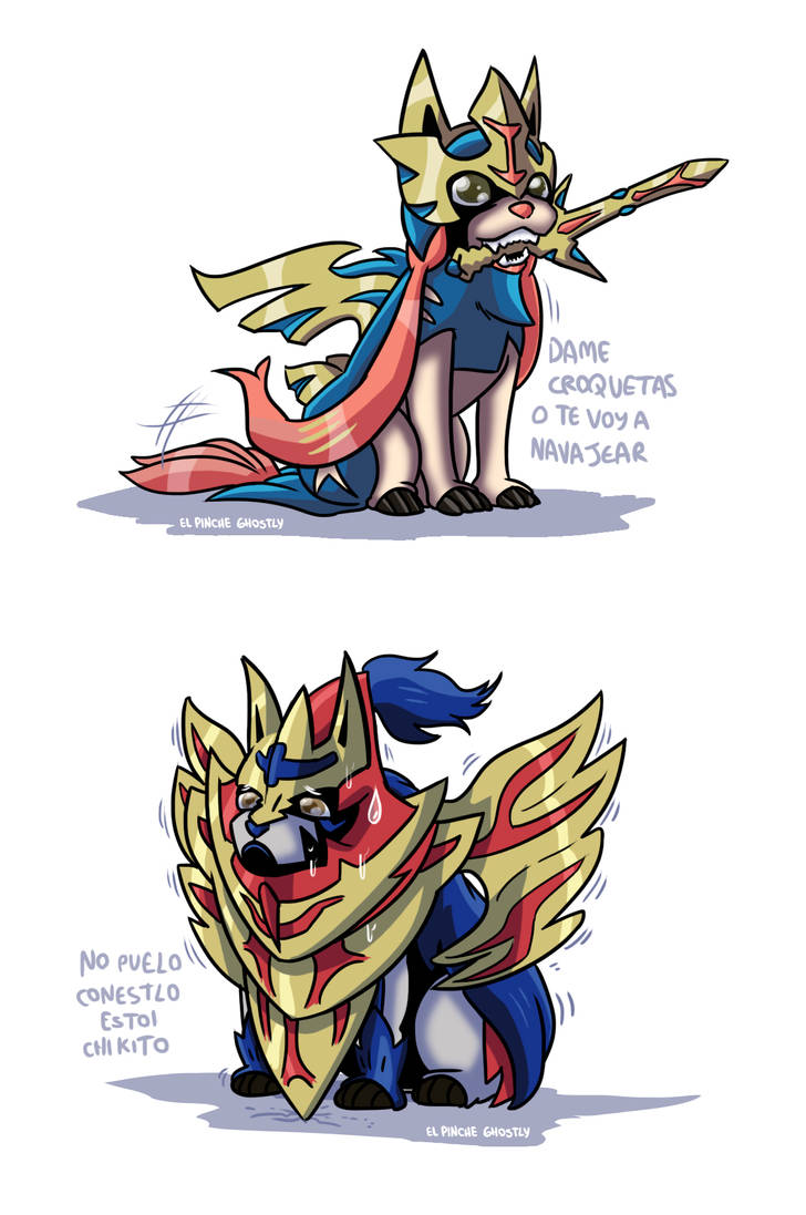 Pokemon Sword And Shield Zacian And Zamacenta By Ghostly666 On