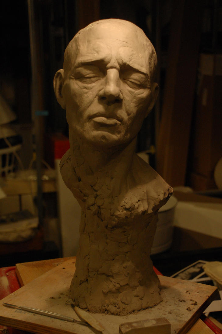 WIP. Life-Size Bust. by dpeteuil