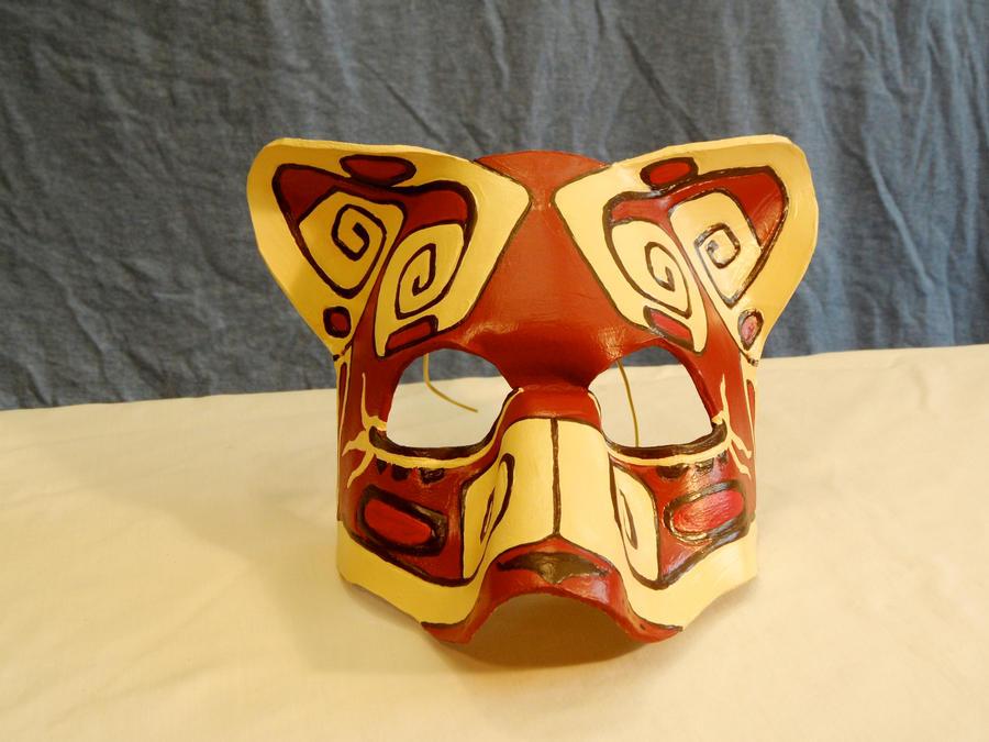 mayan ocelot mask by ladyakeldama on deviantart