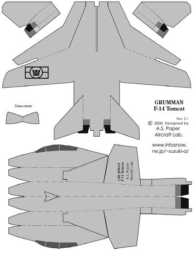 airplane cut out template - free download papercraft templates planes programs