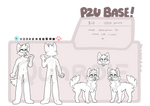 p2u canine anthro and feral base - mobile friendly