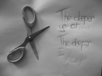 The Deeper You Cut... by thetearunshead
