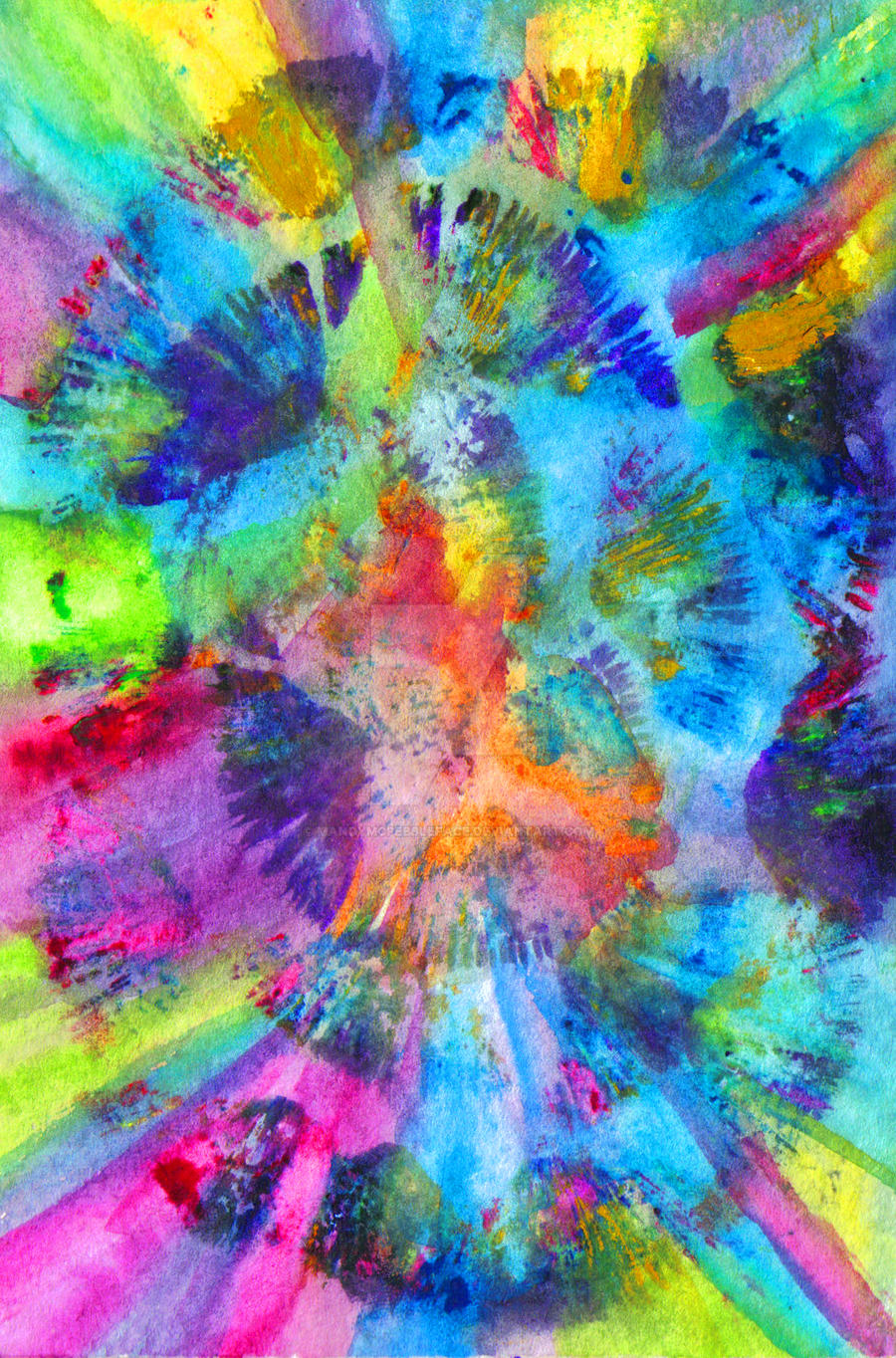 Abstract Tie-Dye Egg by MandyMcPebbleFace