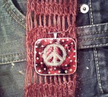 Peace Pendant by MandyMcPebbleFace