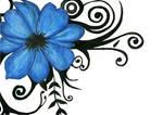 Blue Tribal Flower