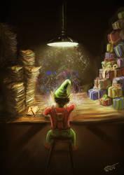 Elf In The Workshop by Plishman