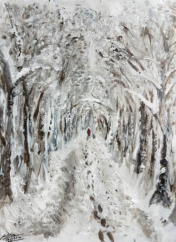 A Winter's Walk by Plishman