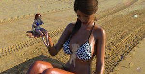 Val at the beach 11