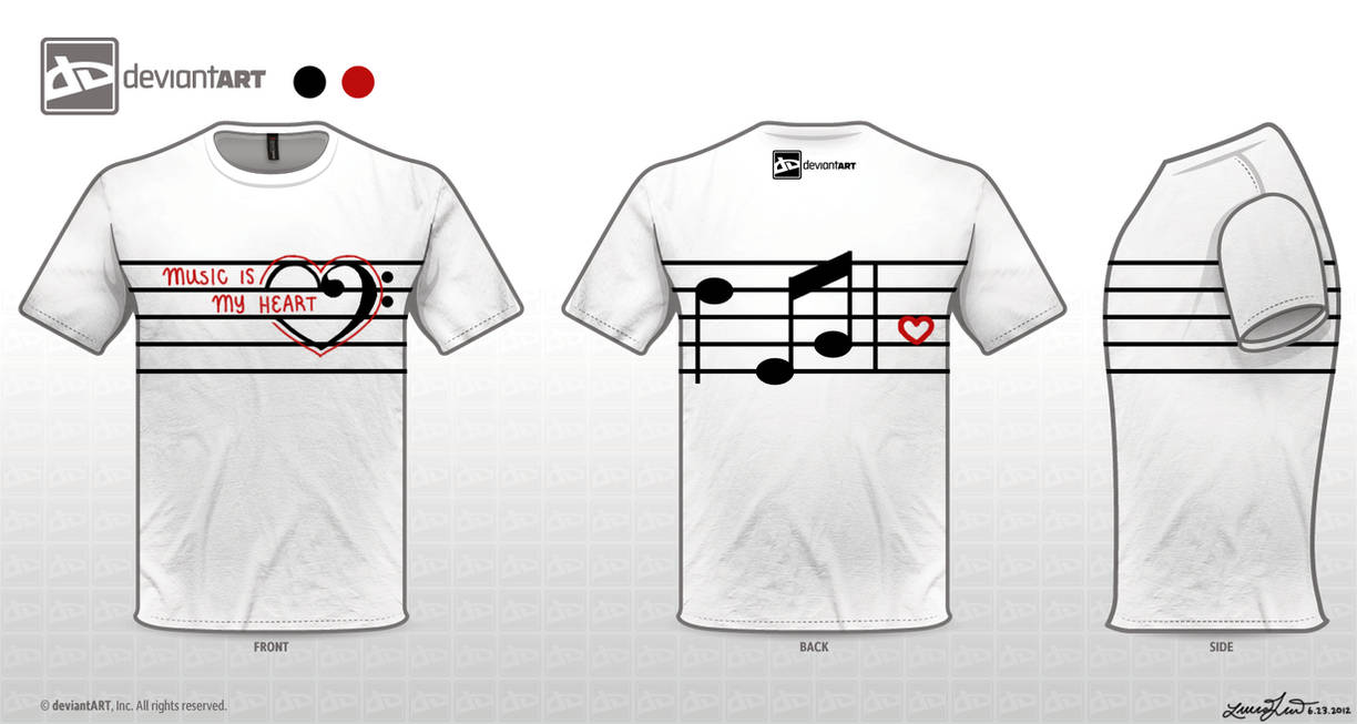 2ad84631 Music Is My Heart T-Shirt Design by x3Strawb3rry on DeviantArt