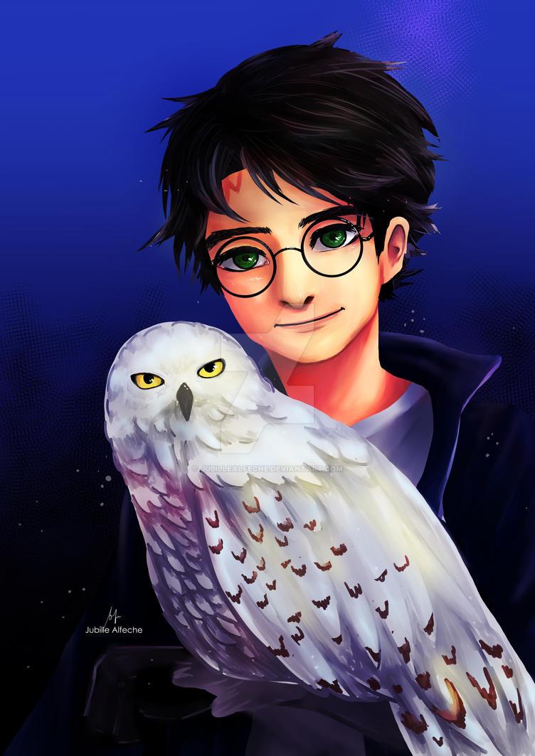 Great Companion- A Harry Potter Fanart by jubillealfeche