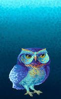 Owl eyes by ManOfGifs