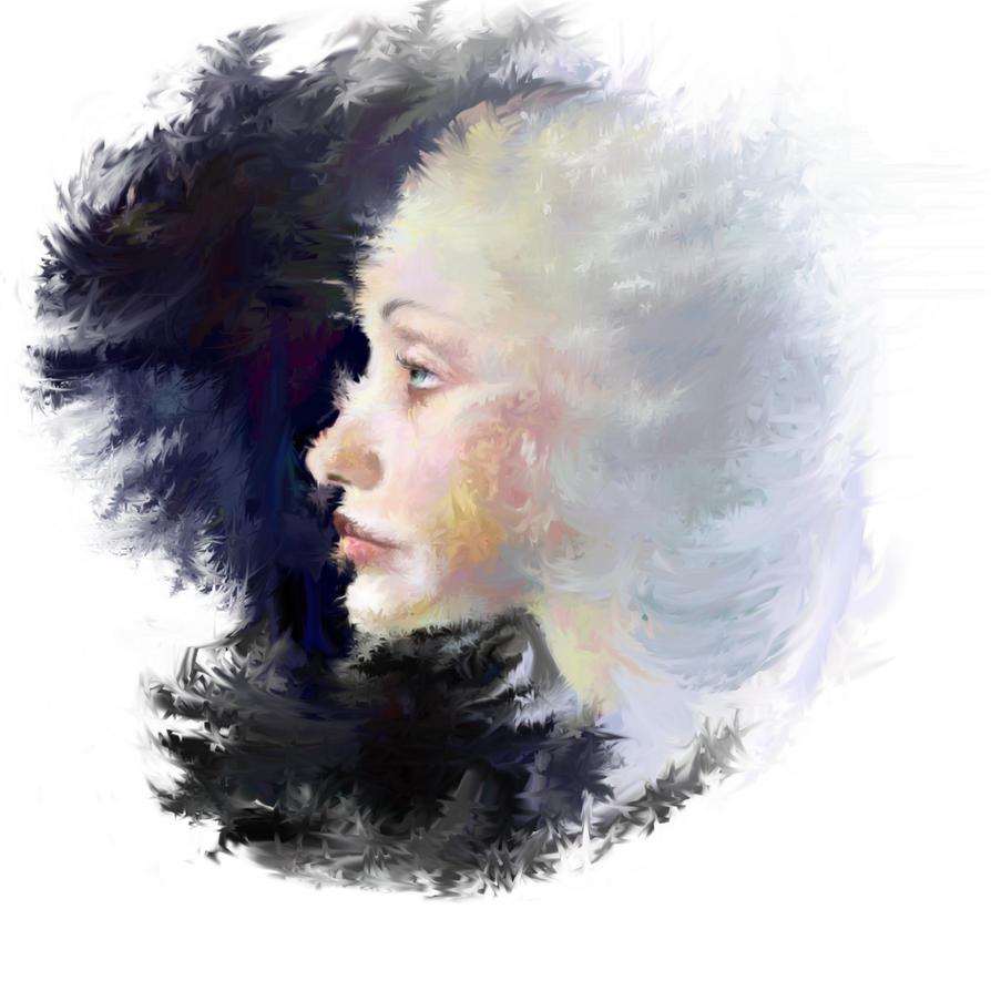 Snow maiden by Belokopytova