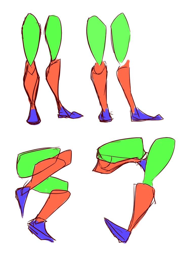 Legs Simple Shapes Pt1 by lwyn