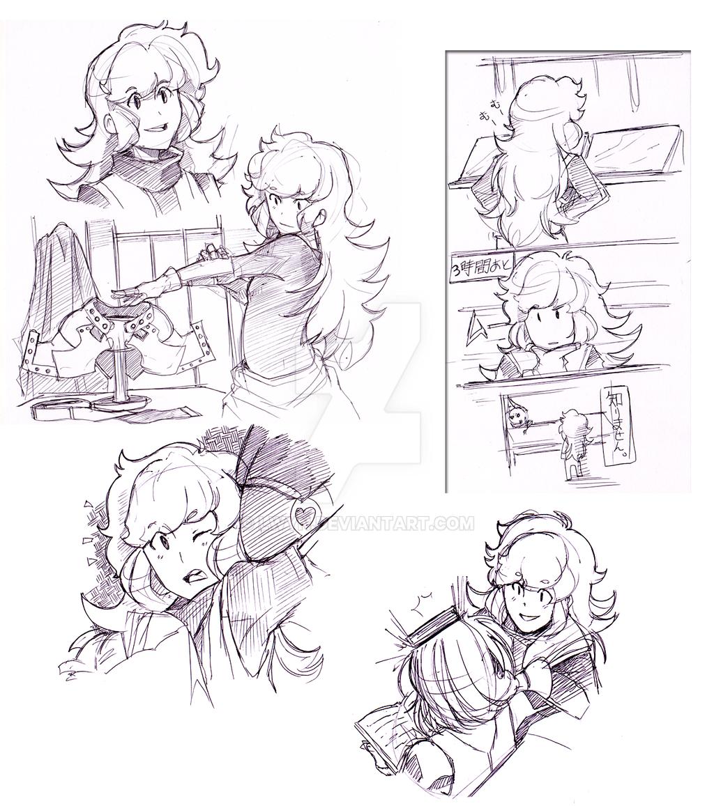 pen sketch by lwyn