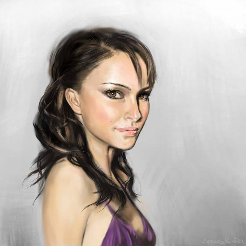 Natalie Portman portrait by buzzelliArt