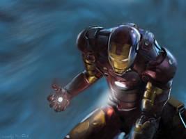 Iron Man speedpainting by buzzelliArt