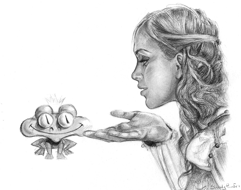 The princess and the frog by buzzelliArt