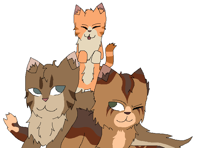 Sunstar, Resinear and Swamptail 2 by jayfeather55220
