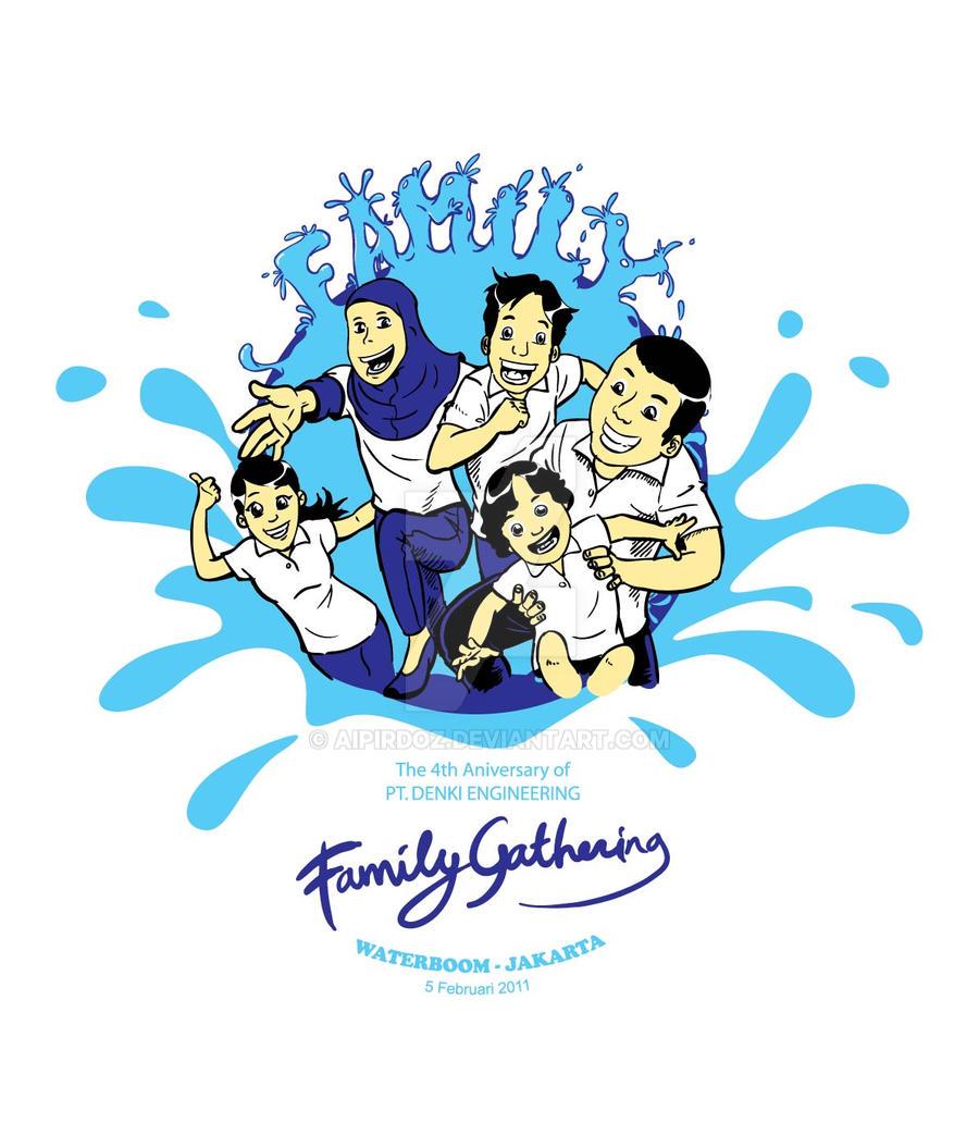 Design t shirt family gathering - Pt Denki Family Gathering By Aipirdoz Pt Denki Family Gathering By Aipirdoz