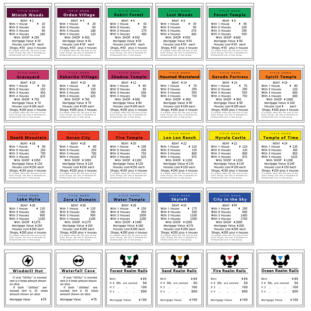 monopoly property cards template - the gallery for monopoly cards printable