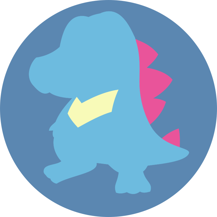 Minimalist Totodile Icon Free To Use By Jedflah