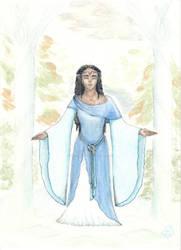 Unnamed, darkskinned Tolkien elf