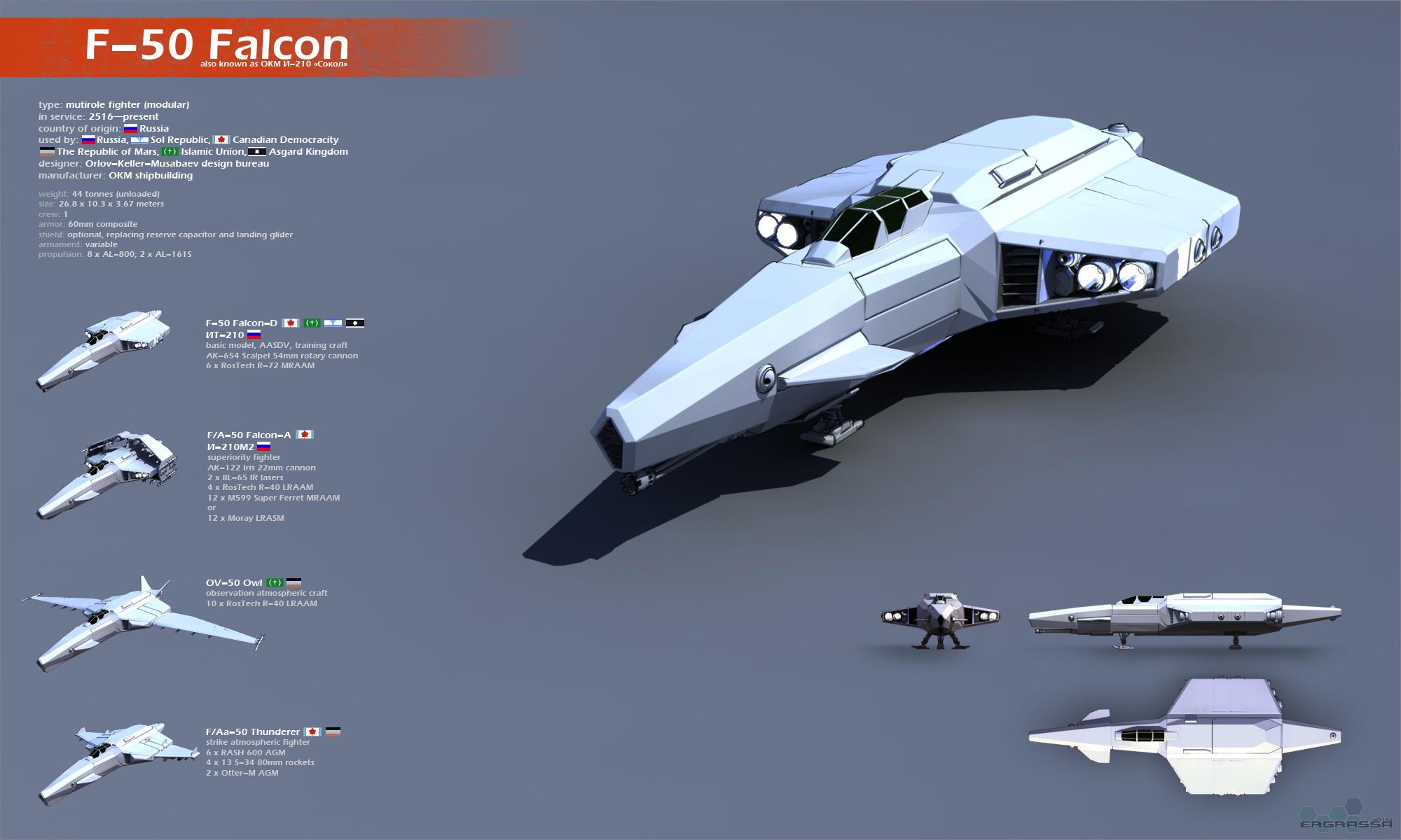 F-50 Falcon by Ergrassa