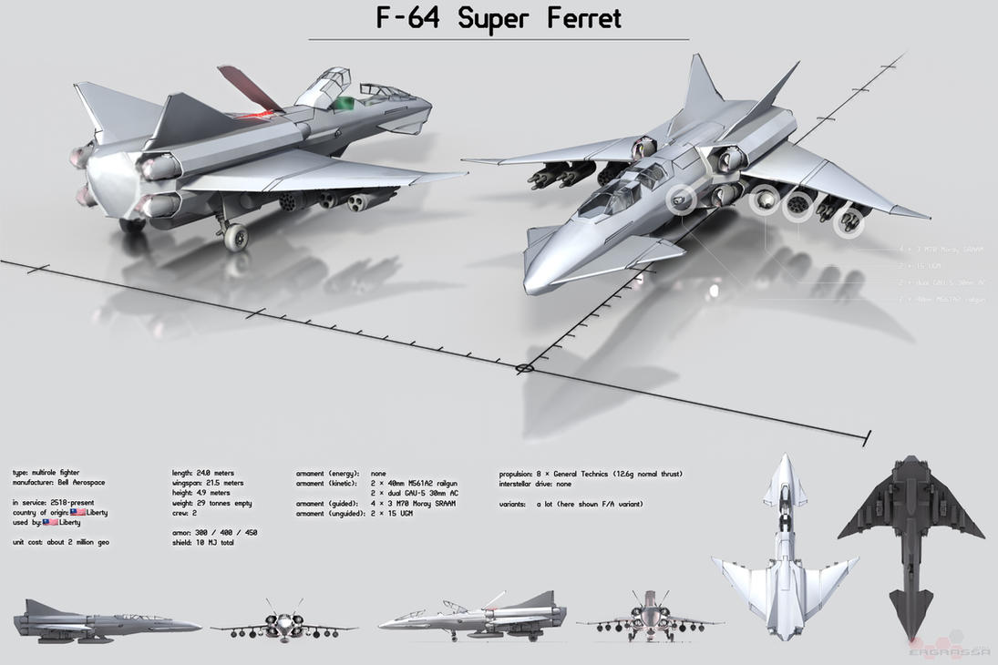 F-64 Super Ferret by Ergrassa