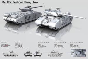 Mk. XIV Centurion Heavy Tank by Ergrassa