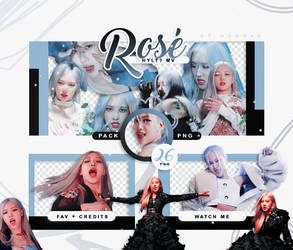 PACK PNG BLACKPINK ROSE - HOW YOU LIKE THAT? MV