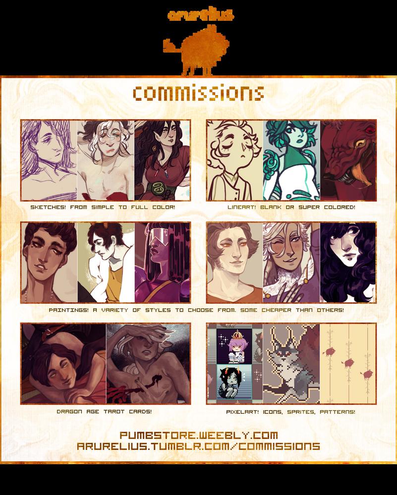 Commissions by arurelius