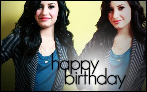 Demi Lovato - Happy Birthday by skyline-designs
