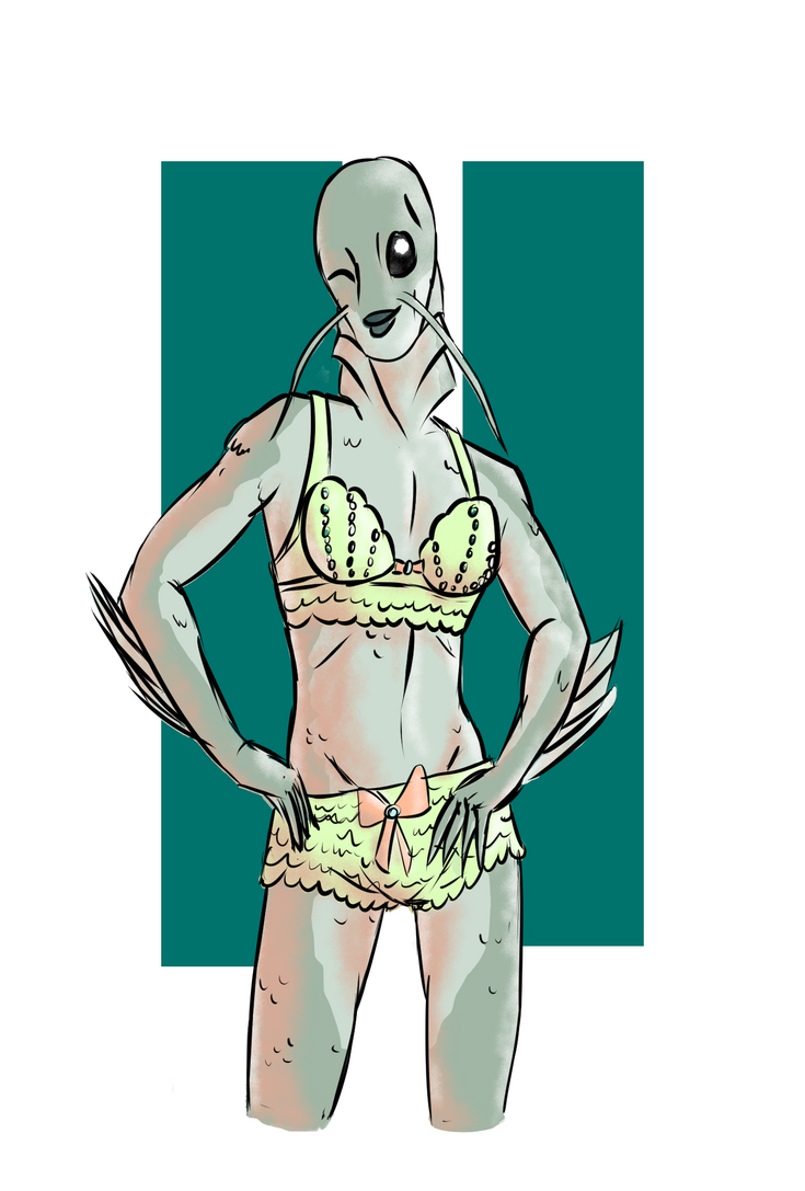 Jo the fish girl by InfiniteBadness