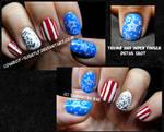 MissJenFABULOUS American Flag Inspired Nails