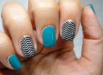 Teal and B+W Zig Zag