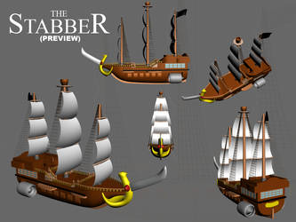 The Stabber in 3D - preview by Vilain-pabo