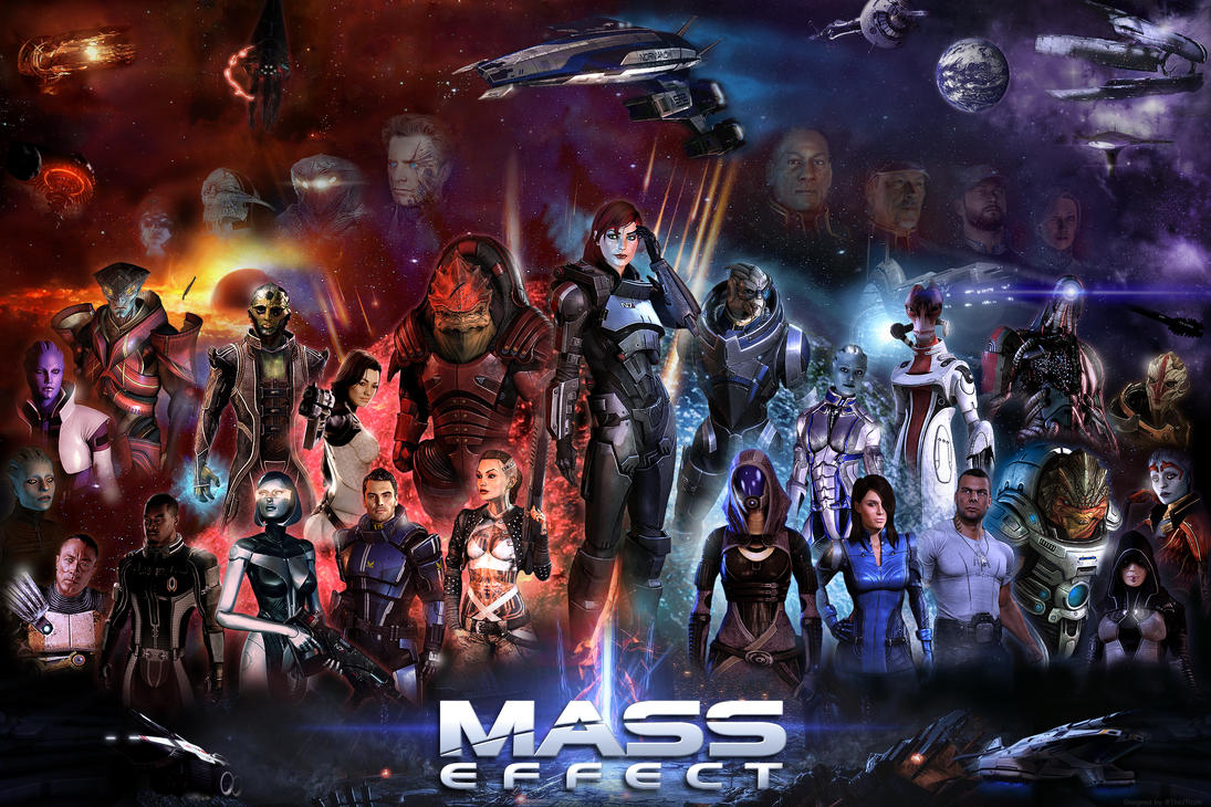 Mass Effect Poster (36x24) (Female Shepard) by TheJTizzle
