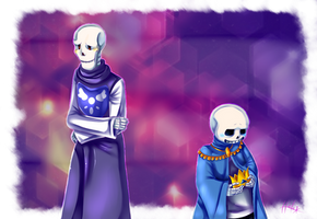 .:UT-AU-Storyshift:. Sans and Papyrus by N-Lilix