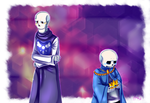 .:UT-AU-Storyshift:. Sans and Papyrus