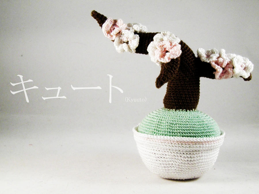 Crochet sakura tree by pink-butterfly-crack