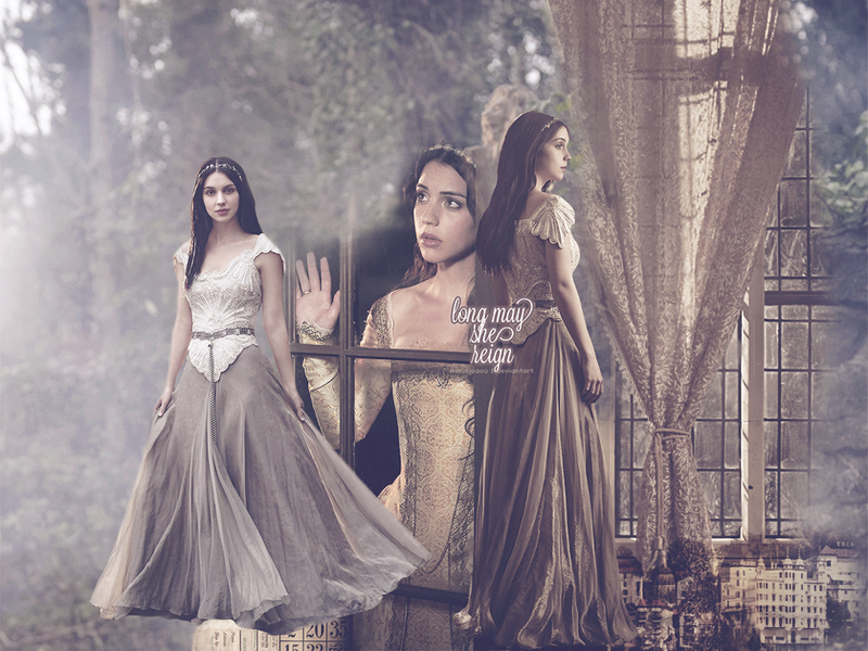 Reign adelaide kane wallpaper by mariajoaou on deviantart for Pc mary s wedding dress