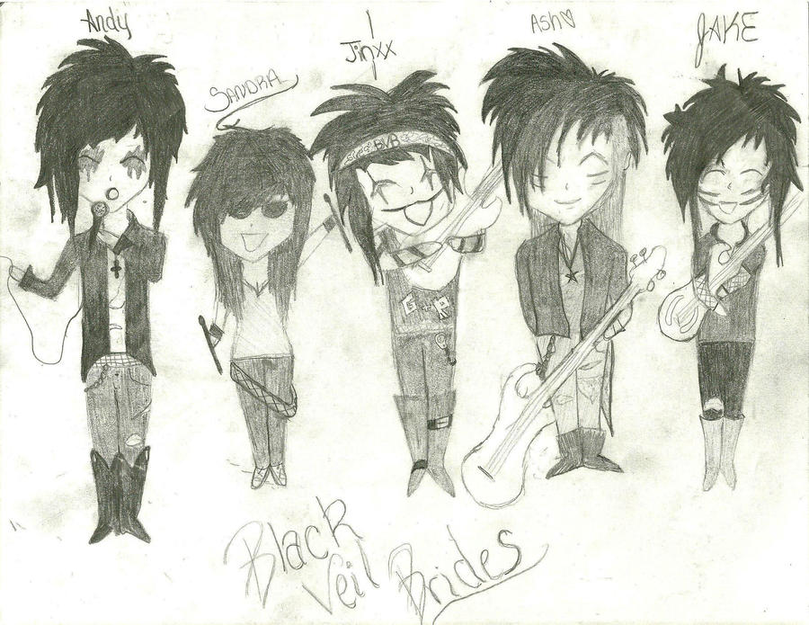 Black Veil Brides Chibi by AllyXCat3