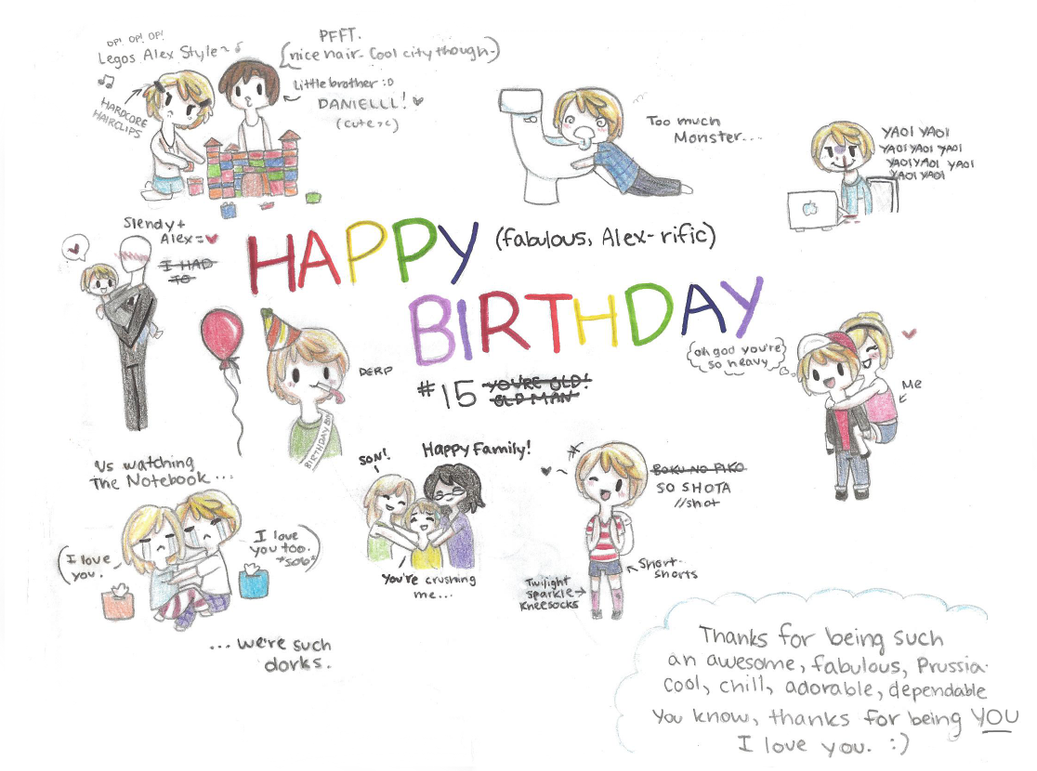 Cute Happy Birthday Tumblr Images : HAPPY BIRTHDAY ALEX~~~! by HetaliaFreak345 on DeviantArt