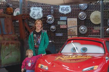 Noah and Jordan with Lightning McQueen by EspioArtwork31