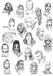 Erikson characters by slaine69